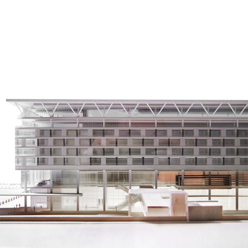 Marriott Hotel Model - Front view